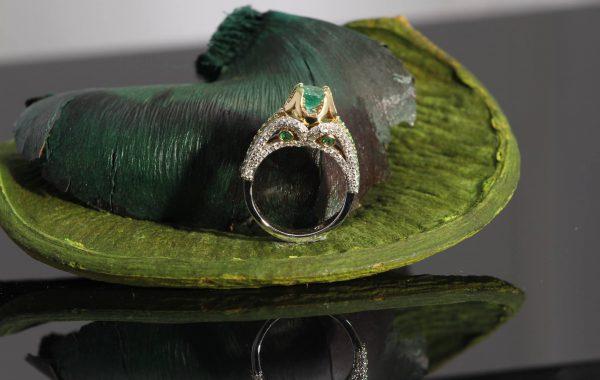 Custom Emerald Engagement Ring