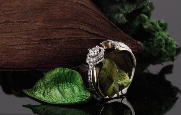 Custom Engagement Ring With Hinge Design