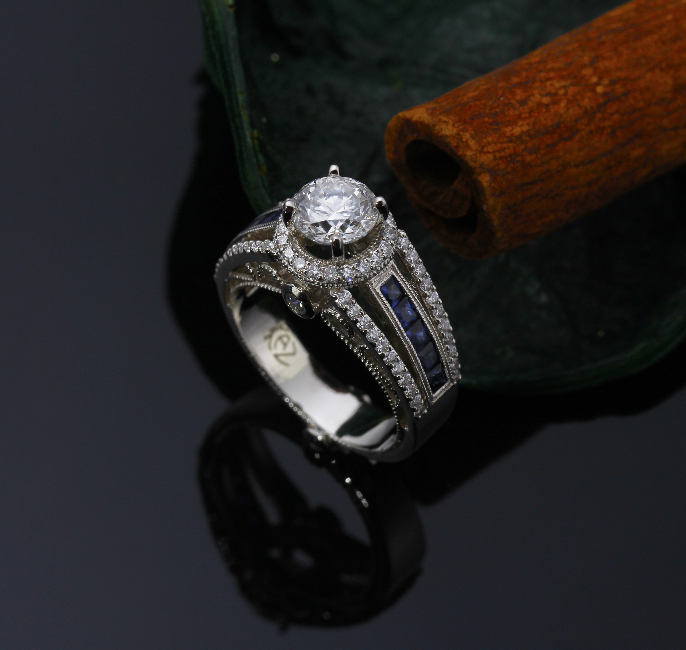 We specialize in Custom Engagement Designs from sketch to finish