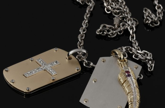 Custom Dog Tags With Link Chain Necklace