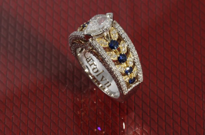 Custom Marquise And Sapphire Ring