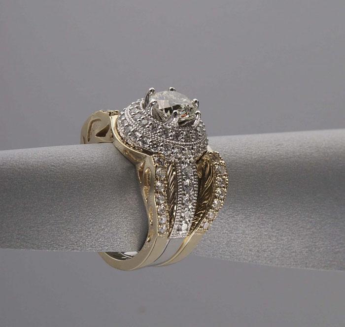 Custom Diamond Engagement Ring Set