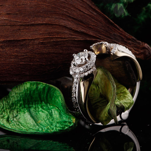 diamond engagment ring hinged shank