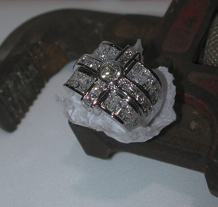 Custom Diamond Men's Ring