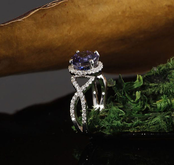 Custom Tanzanite Engagement Ring