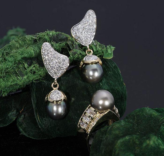 Tahitian Pearl & Diamond Jewelry