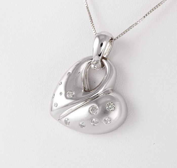 Kaz Heart Pendant With Diamonds