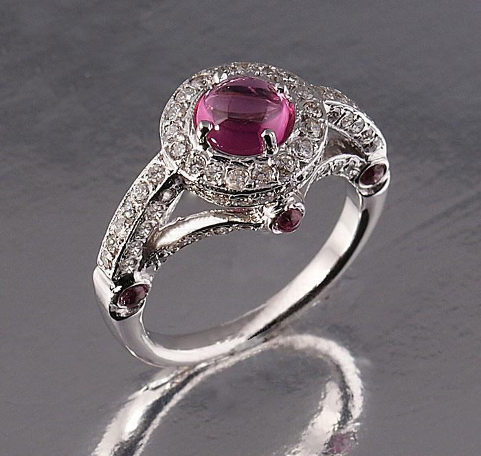Pink Tormaline Ring