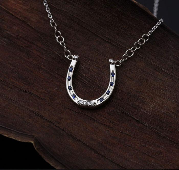 Custom Diamond Horseshoe Necklace