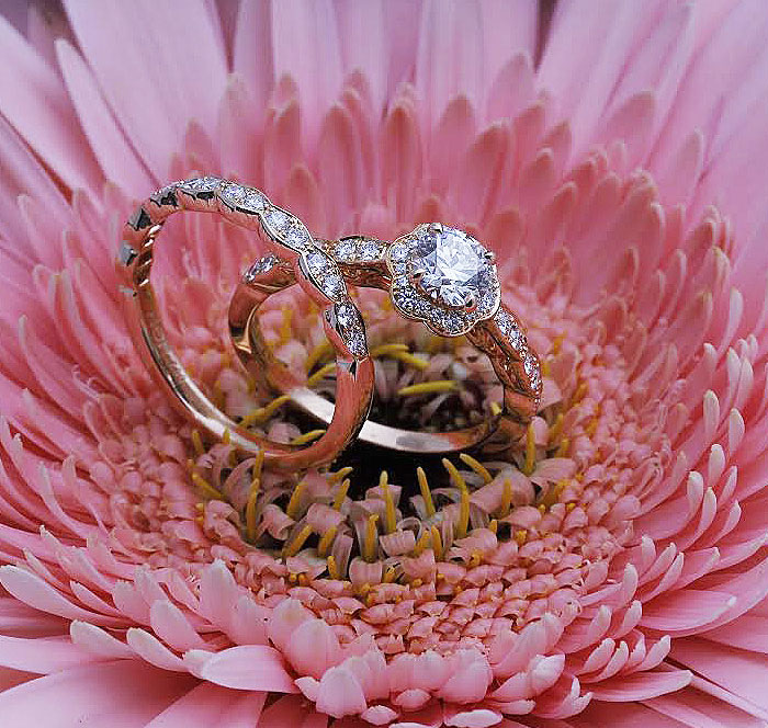 Diamond Engagement Ring and Matching Band