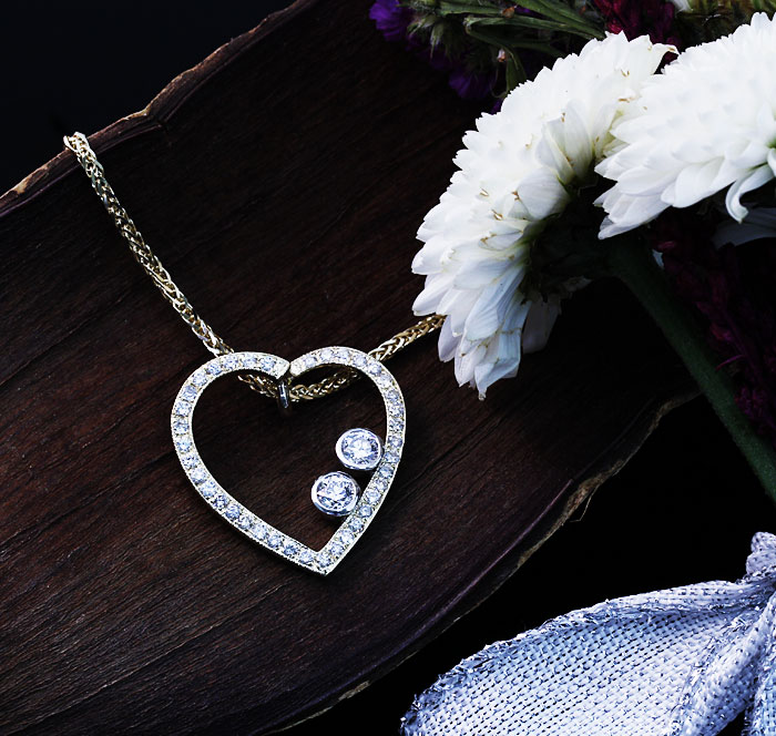 Custom Diamond Heart Pendant