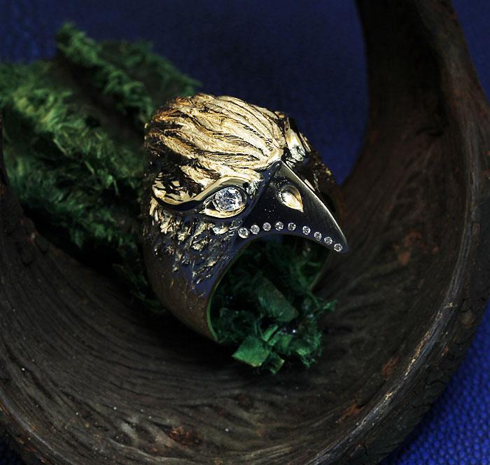 Custom Eagle Mens Ring