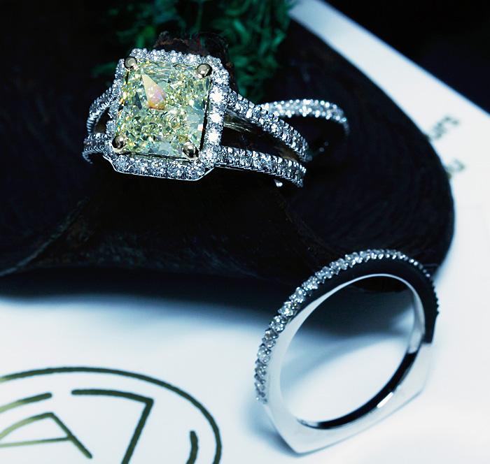 Custom Yellow Diamond Engagement Ring