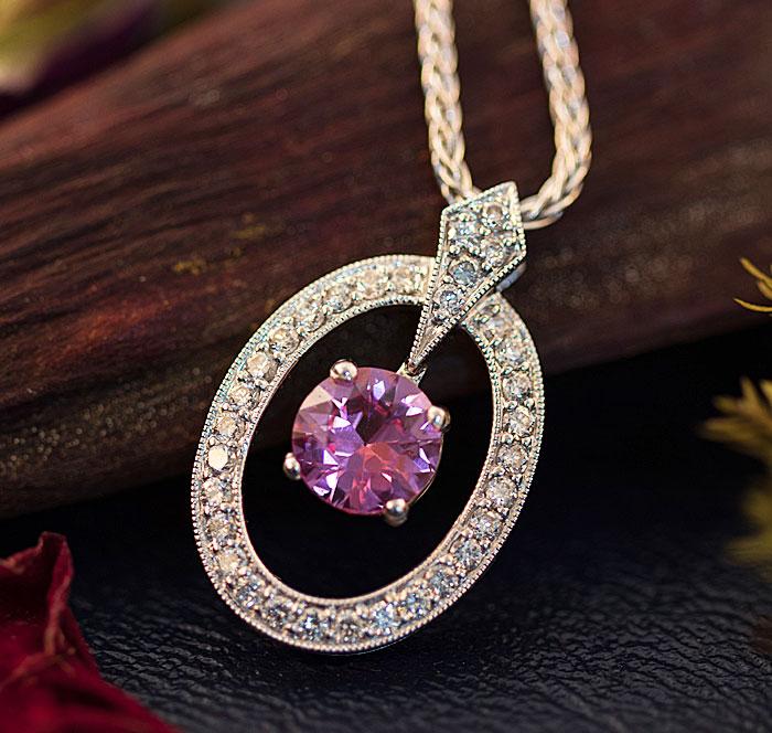 Diamond Pink Spinal Pendant